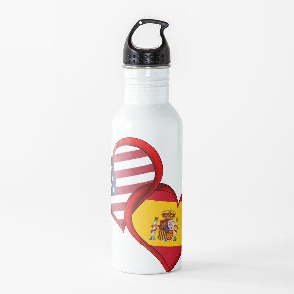 EE. UU. / Amor de España Botella de agua
