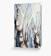 Dreaming Birch Trees Greeting Card