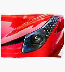 Ferrari 458 Abstract Wing / Light Poster