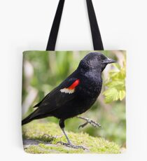 Chipper Red-Winged Bird Tote Bag