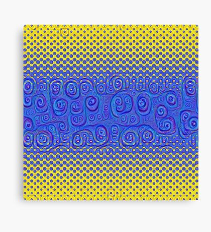 #DeepDream Color Circles Gradient Visual Areas 5x5K v1449227497 Canvas Print