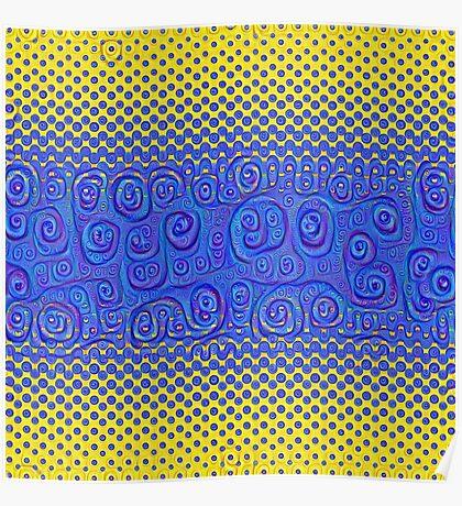 #DeepDream Color Circles Gradient Visual Areas 5x5K v1449227497 Poster