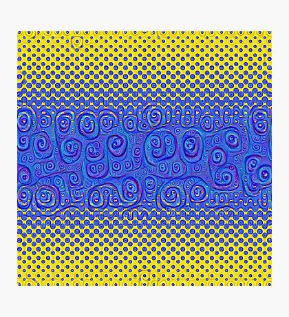 #DeepDream Color Circles Gradient Visual Areas 5x5K v1449227497 Photographic Print