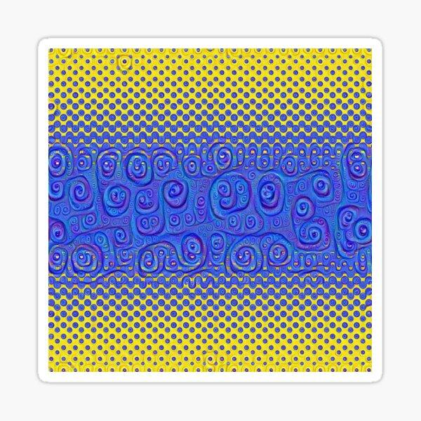 #DeepDream Color Circles Gradient Visual Areas 5x5K v1449227497 Sticker