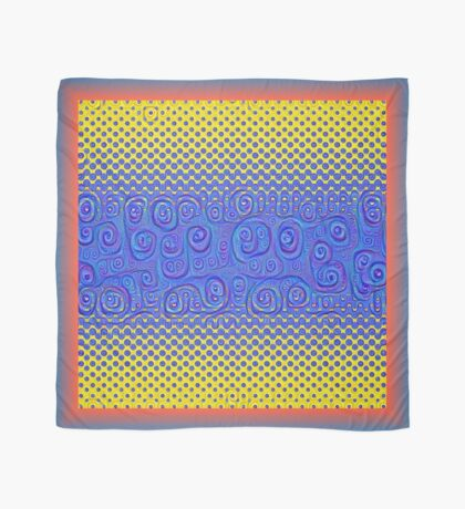 #DeepDream Color Circles Gradient Visual Areas 5x5K v1449227497 Scarf