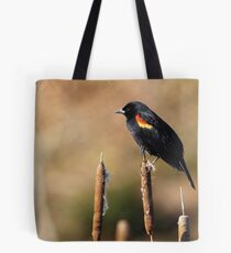 Black-Feathered Sentinel Tote Bag