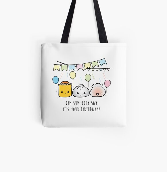 Dim Sum Birthday All Over Print Tote Bag