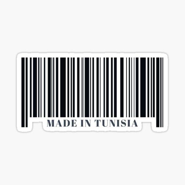 Made in Tunisia Black Barcode Sticker