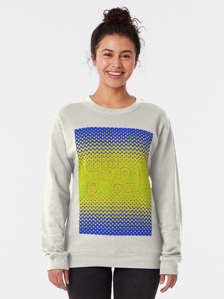 Alternate view of #DeepDream Color Circles Gradient Visual Areas 5x5K v1449241105 Pullover Sweatshirt