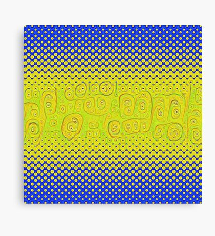 #DeepDream Color Circles Gradient Visual Areas 5x5K v1449241105 Canvas Print
