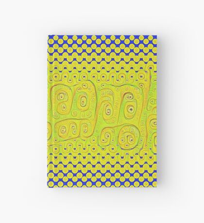 #DeepDream Color Circles Gradient Visual Areas 5x5K v1449241105 Hardcover Journal
