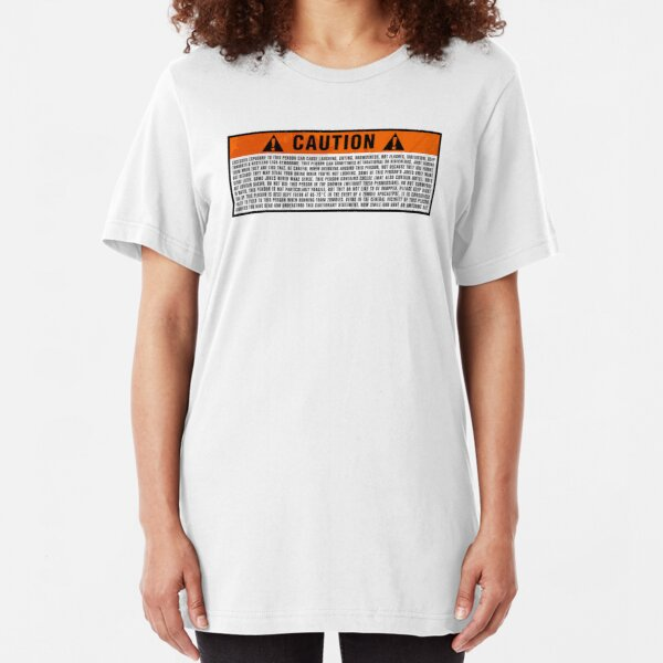 Caution: Excessive exposure warning Slim Fit T-Shirt