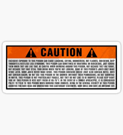Caution: Excessive exposure warning Sticker