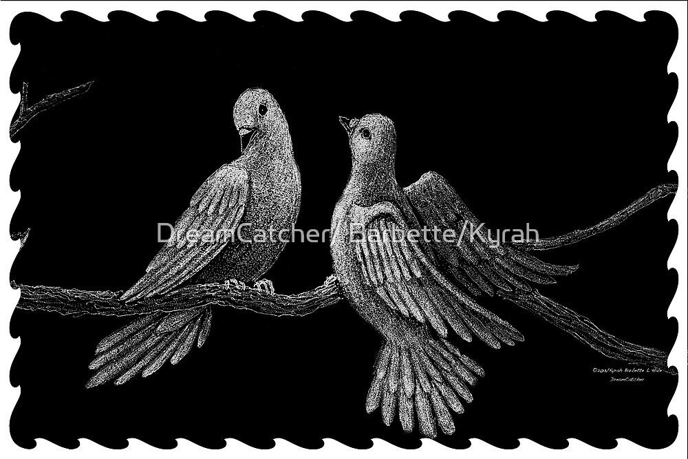 Doves on branch by DreamCatcher/ Kyrah