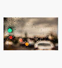 Melbourne Twilight - Lights, rain and movement Photographic Print