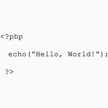 "php - ""Hello, World!"" by enedois"