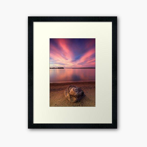 The Pink End, Leech Lake Framed Art Print