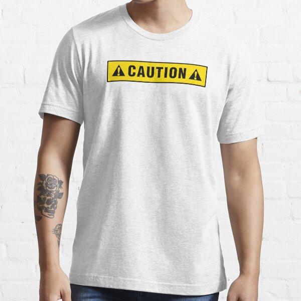 Caution label T-shirt Essential T-Shirt