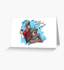 Christmas Sniper Greeting Card
