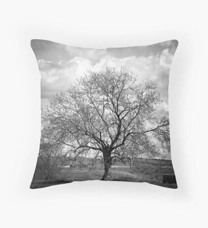 Avebury tree Throw Pillow