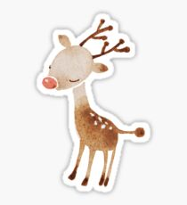 Rudolf the reindeer Sticker