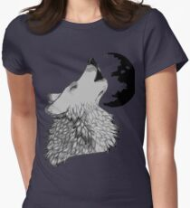 Wolf Howl Womens Fitted T-Shirt