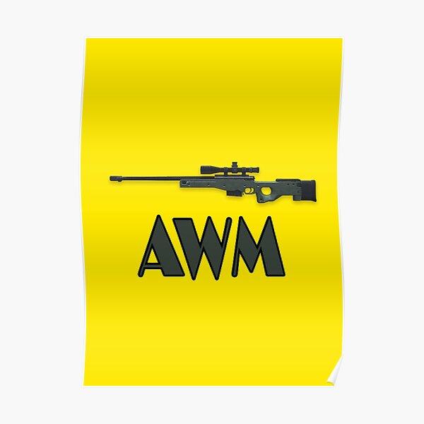 Awm pistola de fuego libre Póster