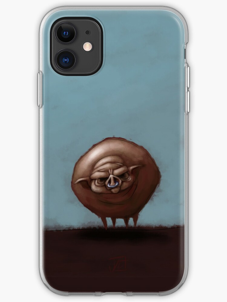 Grumpy Old Fat Pig With Nose Ring Iphone Case Cover By