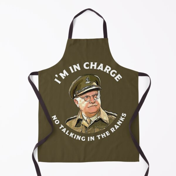 Dad's Army -  Captain Mainwaring - British Nostalgia - Dad's Army tshirts  - Comedy Classic Gifts Apron