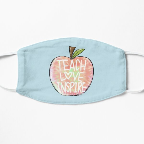 teach love inspire-tie dye Mask