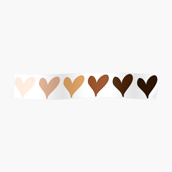 Black Lives Matter Hearts Emoji Poster