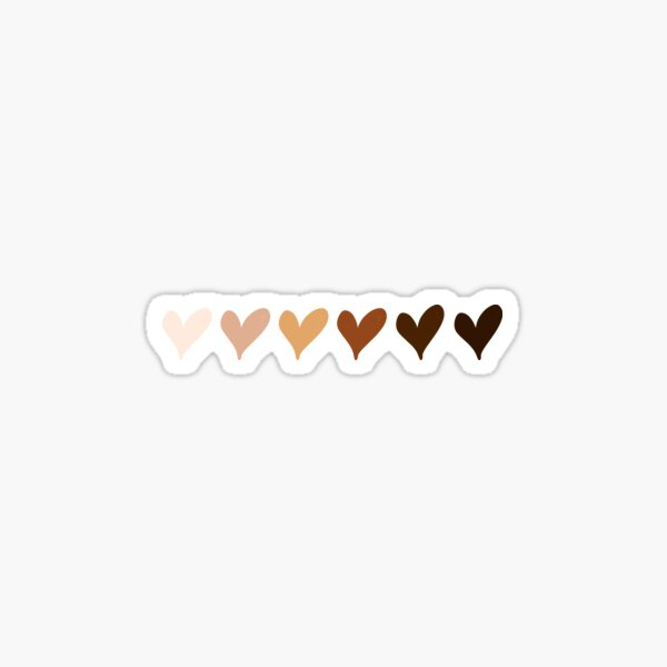 Black Lives Matter Hearts Emoji Sticker