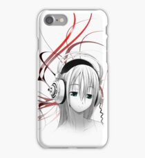 Anime Girl Headphones 1 iPhone Case/Skin