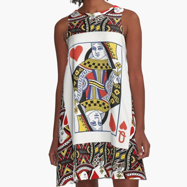 CASINO NIGHTS RED QUEEN OF HEARTS A-Line Dress