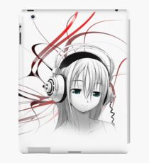 Anime Girl Headphones 1.5 iPad Case/Skin