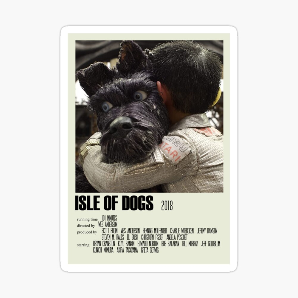 Isle Of Dogs Alternative Poster Art Movie Large 5 Poster By Designsbyelle Redbubble