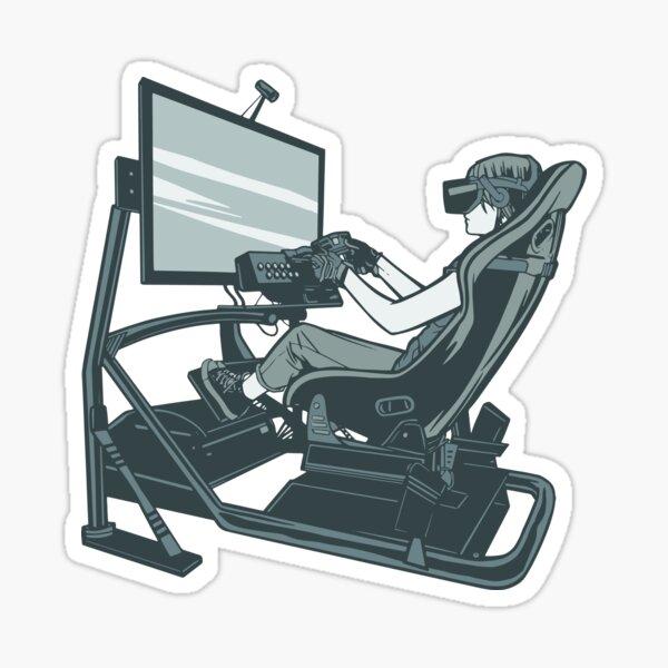 VR Sim Racing Sticker