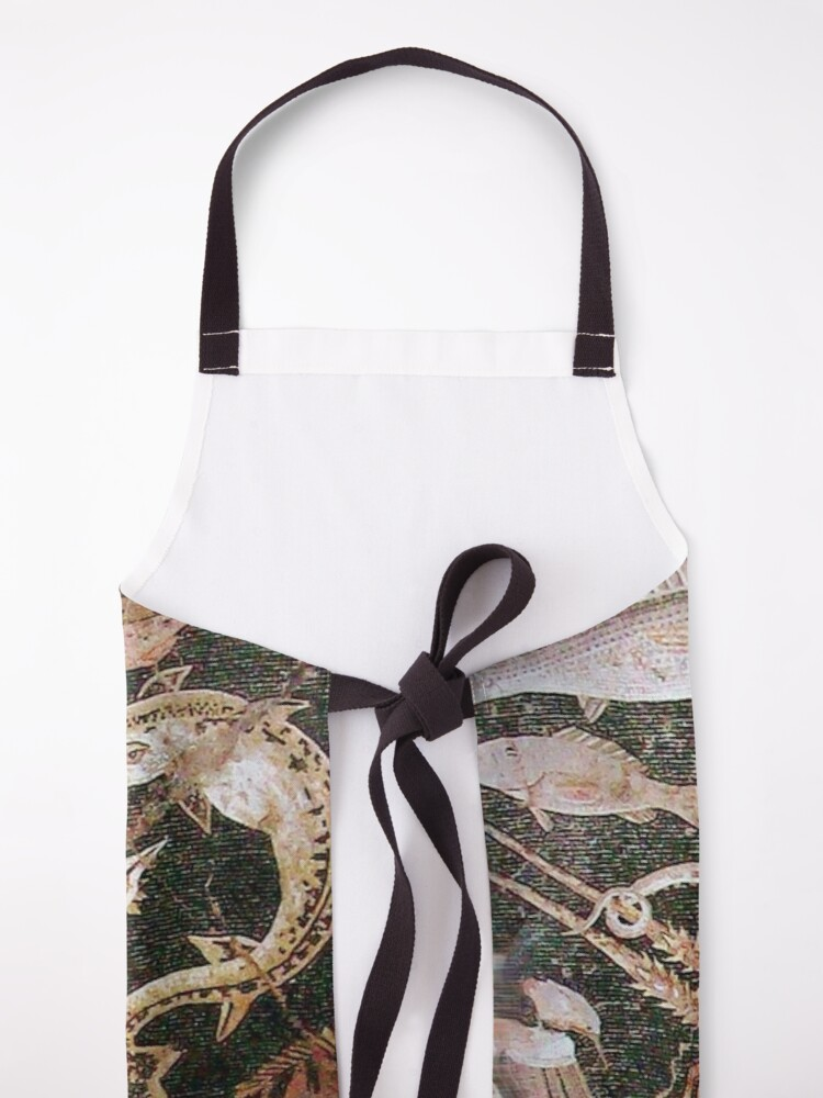 Alternate view of POMPEII COLLECTION / ANTIQUE OCEAN - SEA LIFE SCENE,OCTOPUS AND FISHES Apron