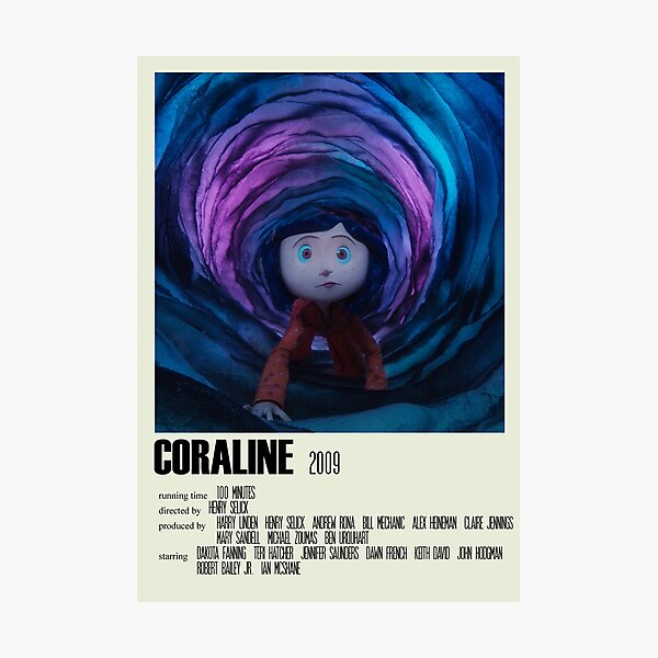 Coraline Alternative Poster Art Movie Large (1) Photographic Print