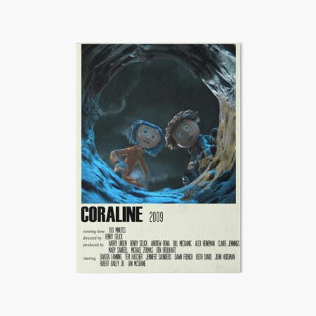 Coraline Alternative Poster Art Movie Large (2) Art Board Print