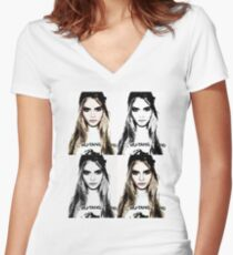 Cara Women's Fitted V-Neck T-Shirt