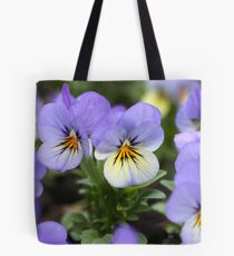 Lavender Faces With Yellow Highlights Tote Bag