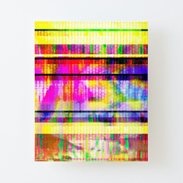 Databending #2 (Hidden Messages) Canvas Mounted Print