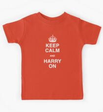 Keep Calm and Harry On - (A Right Royal T Shirt!) Kids Tee