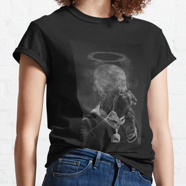 Dernière affiche pop fumante T-shirt classique