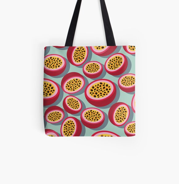 Passion Fruit All Over Print Tote Bag