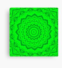 Psychedelic Green Canvas Print