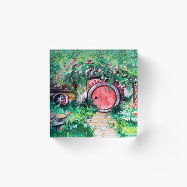 Hobbiton Shire in the Spring Acrylic Block