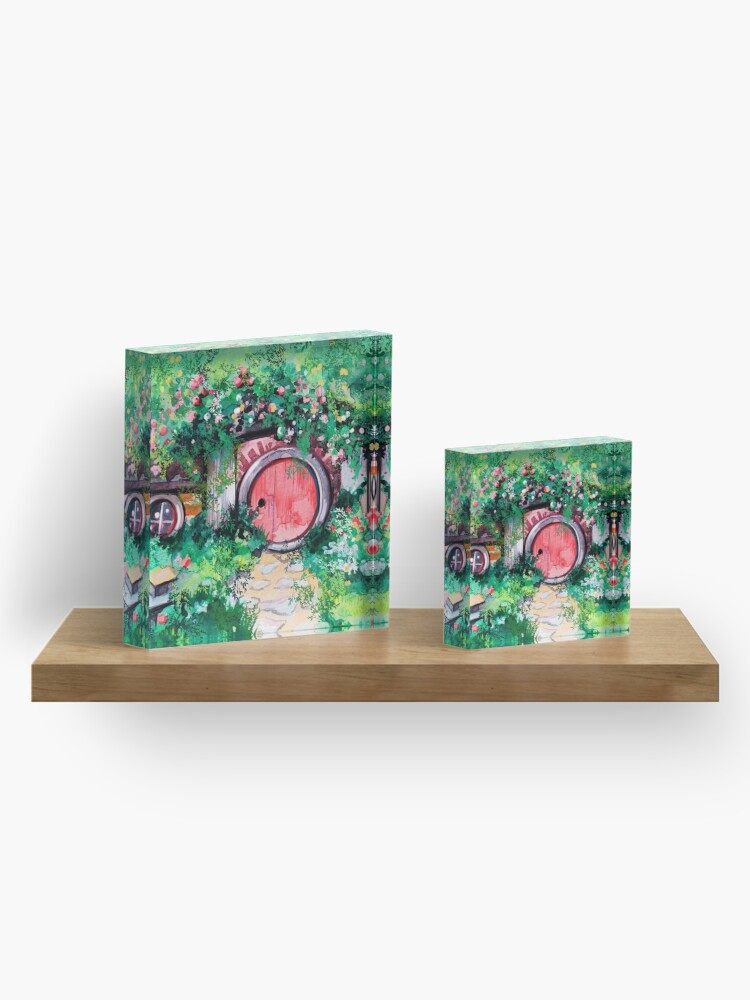 Alternate view of Hobbiton Shire in the Spring Acrylic Block