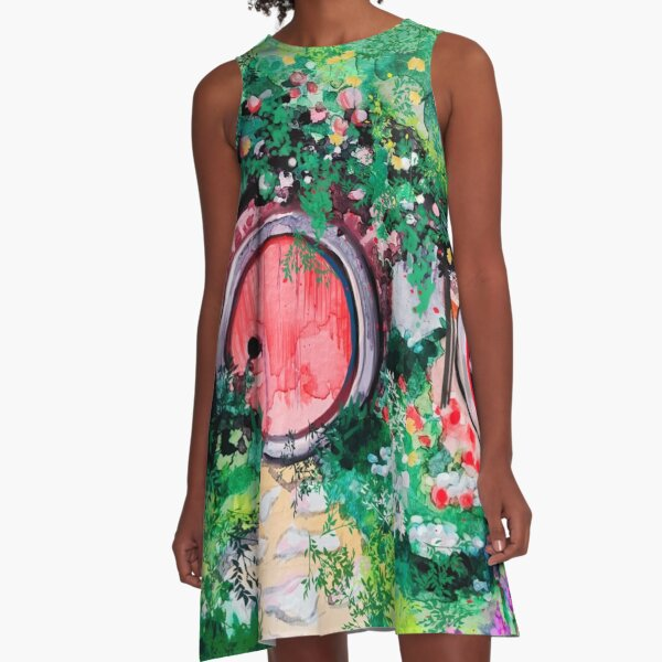 Hobbiton Shire in the Spring A-Line Dress